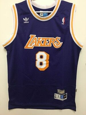 Los Angeles Lakers Kobe Bryant  8 Throwback Classics Stitched Men s Jersey  NWT 007ea3116