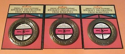 3 Vintage Kwikset Decorative Trim Rosette,No. 1-283, Door, Handle, Kwiksee