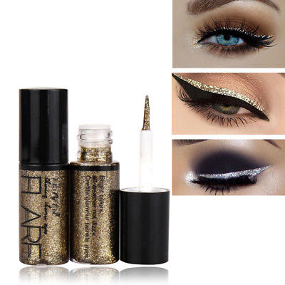 Shiny Eye Liners Cosmetic Pigment Silver Rose Gold Color Liquid Glitter Eyeliner