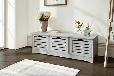 Amazing Hall Seat Storage Unit Draws And Stool Cabinet Grey White Camellatalisay Diy Chair Ideas Camellatalisaycom