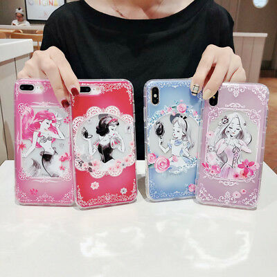 Cute Mermaid Disney Cartoon Phone Case Cover For iPhone X XS Max XR 6 7 8 Plus