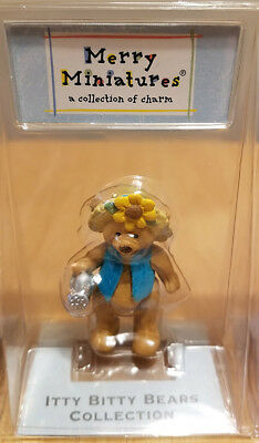 HALLMARK MERRY MINIATURE - 2002 Itty Bitty Bears Collection - BLOSSOM