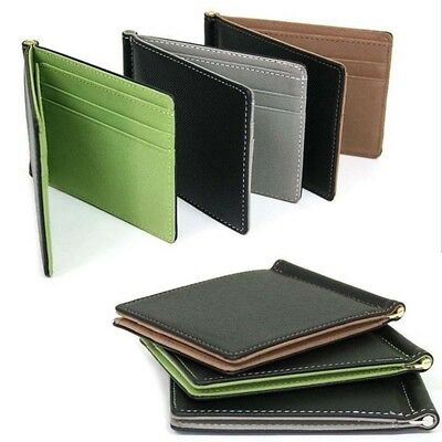 Men Leather Bifold Wallet Credit ID Card Holder Money Clip Coin Ultra-thin Purse