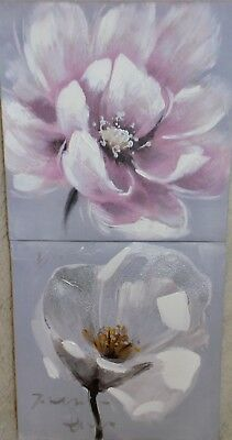 Flower and Nature 2 pc Original Canvas Painting Set of 2 by Kasa Modern Design