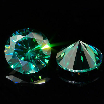Loose Moissanite Vivid Green 7.00 TO 10.00 MM (VVS1) Round Excellent Cut