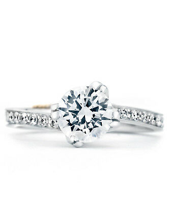 0.57Ct Certified Lab Diamond Engagement Ring Real 14K Solitaire Band Round Cut