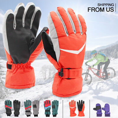 Mens Womens Adjustable Winter Warm Thermal Waterproof Ski Snowboarding Gloves