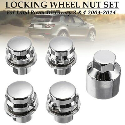5 x Alloy Locking Wheel Nuts Kit For Land Rover Discovery 3/4 Range Rover Sport