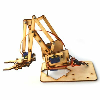 4 DOF Robotic Wooden Arm Kit with Servo Motor For Arduino Robot Car