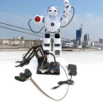 DIY Assembled Acrylic Mechanical Arm Robot Circuit Kits for Science Toy