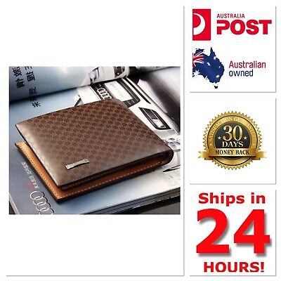 Men's Leather Wallet Credit Cards Bifold Purse Fashion AU Seller New