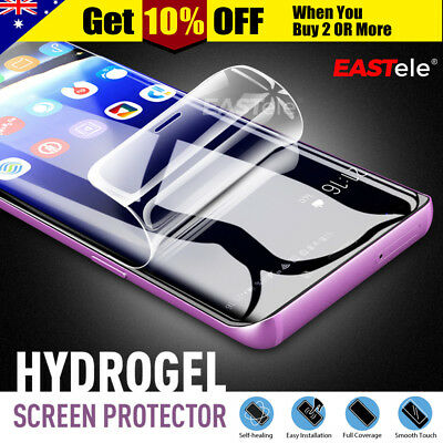 3x EASTele HYDROGEL AQUA FLEX Screen Protector Samsung Galaxy S9 S8 Plus Note 9