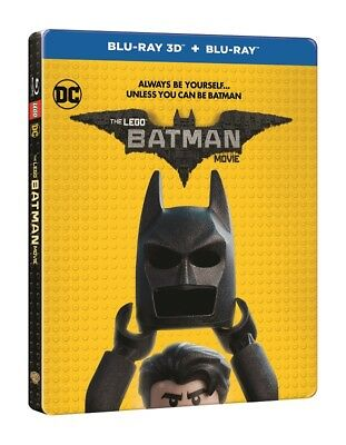 The Lego Batman Movie Limited Edition Steelbook 3D + 2D Blu Ray
