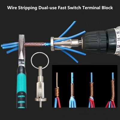 Automatic Wire Stripping Flashlight Dual-use Fast Switch Terminal Block WS