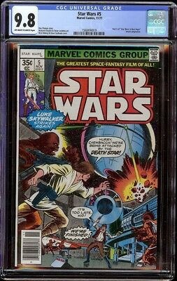 Star Wars 5 CGC 9.8 OW/W (Marvel, 1977) Dave Cockrum cover