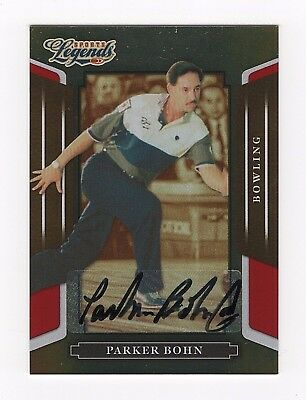 2008 Donruss Sports Legends Signatures Mirror Red #37 Parker Bohn HOF 0007/1369