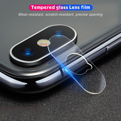 For Apple iPhone X XS MAX XR 8 7+ Rear Camera Lens Tempered Glass Protector Film