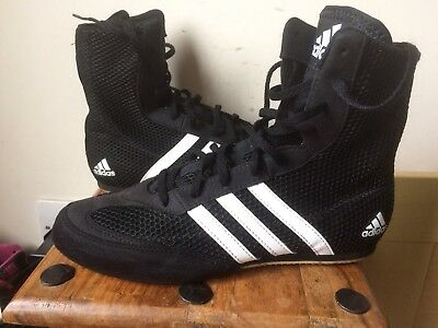 newest 8a7f8 0fc75 ADIDAS Box Hog Mid Boxing Boots - Size 7 (40 23) New