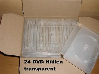 24 x DVD Hüllen transparent - Standard - DVD CD BD - Leerbox - Einzel DVD-Box