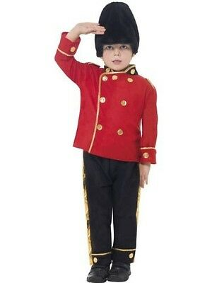 Boy's Busby Guard Costume Royal Soldier Fancy Dress Kids Party World Book Day