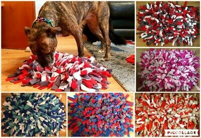 """Large Snuffle Mat for Dogs 24"""" x 16"""" (60x40cm) Pet Feeding Mat Enrichment Game"""