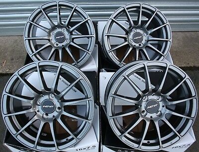 "16"" GREY FORCE 4 ALLOY WHEELS FITS 4x100 AUDI BMW CHEVROLET CITROEN DAIHATSU"