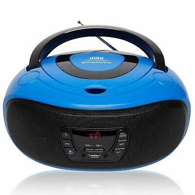 Boombox CD Player Portable GTCD-501 Blue Radio with USB, MP3 Player & AUX-IN
