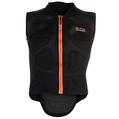 NEW No Fear Full Zip Vest Top Back Protector Adults Size Small