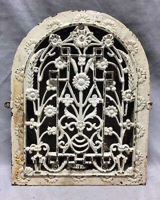Antique Cast Iron Arch Dome Top Floor Register Heat Grate 9X12 Old Vtg 714-18C