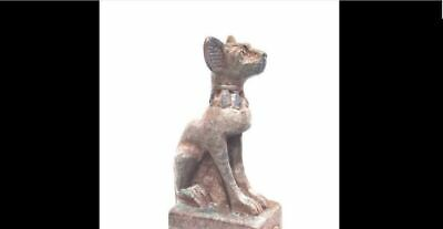 Beautiful Bastet Giant Statue With Hieroglyphic Egyptian Antiques Bast Goddess