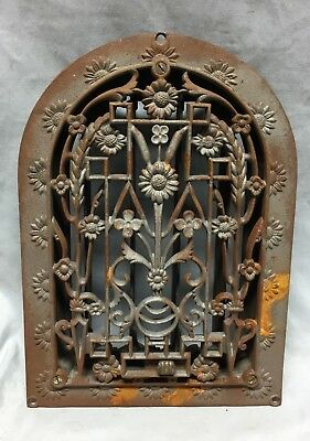 1 Antique Cast Iron Arch Dome Top Floor Register Heat Grate 8X12 Old Vtg 716-18C