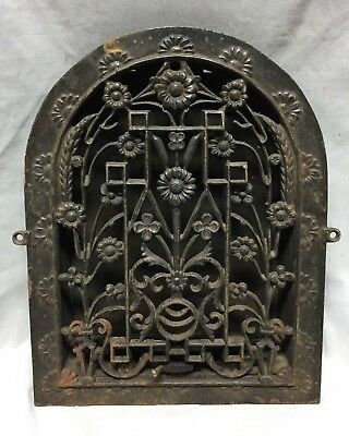 Antique Cast Iron Arch Dome Top Floor Register Heat Grate 9X12 Old Vtg 717-18C