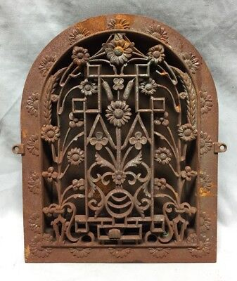 Antique Cast Iron Arch Dome Top Floor Register Heat Grate 9X12 Old Vtg 719-18C