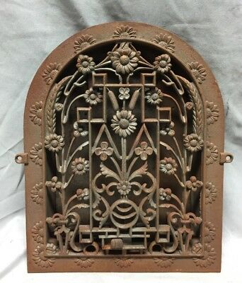 Antique Cast Iron Arch Dome Top Floor Register Heat Grate 9X12 Old Vtg 720-18C