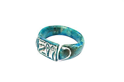 Amazing Bracelet Wristband Topped With Eye Of Horus Egyptian Antiques Faience