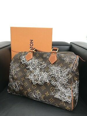 Louis Vuitton Speedy Limited Edition -authentic Dentel-Silberne Spitze-sold  out 7184a64f87