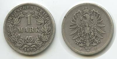 G4749 - Deutsches Reich 1 Mark 1875 F  (J.9) KM#7 Silber Germany Empire