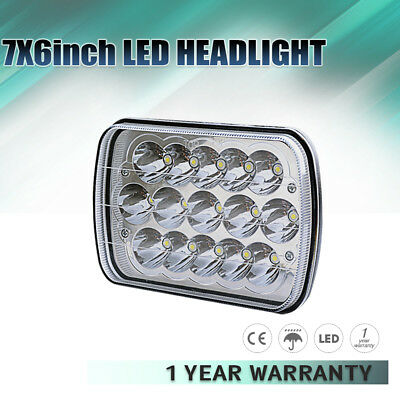 """Pack 1 7x6"""" LED HID Cree Sealed Beam Headlight H/L White 3200lm for GMC 84-00 XJ"""