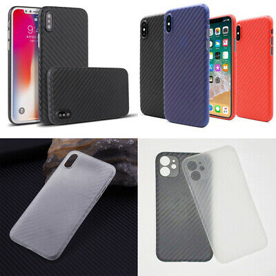 Thin Plastic Case Cover For New iPhone XS, XS MAX, XR Carbon Style Design
