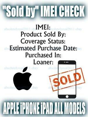Apple iPhone iPad IMEI S/N Check Full Report GSX SOLD Purchased Country Carrier