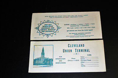 Lot of Two Cleveland Union Terminal Ticket Jackets