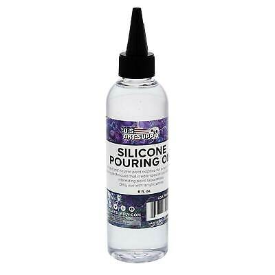 U.S. Art Supply Silicone Pouring Oil 6-Ounce Cell Creation Acrylic Paint
