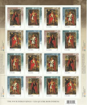 FOUR INDIAN KINGS = Full Sheet Canada 2010 #2383a MNH VF