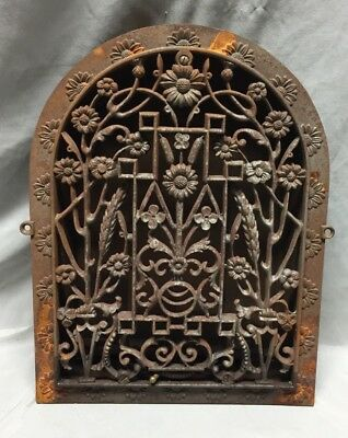 Antique Cast Iron Arch Dome Top Floor Register Heat Grate 11X14 Old Vtg 728-18C