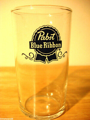 New NOS Pabst beer glass Blue Ribbon bar Milwaukee Wisconsin Brewery 8 OUNCE