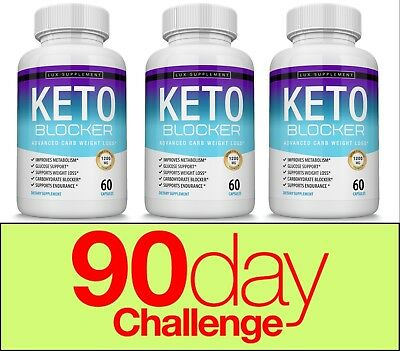 Keto Blocker Diet Pill 1200 MG Weight Loss Ketogenic Fat Burner & Carb Blocker