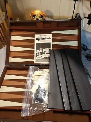 Pressman Tournament/Traveling Rummikub Complete Set W/ Padded Case Vintage 1987