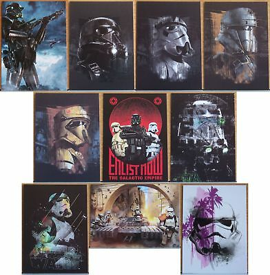 2017 Topps Star Wars Rogue One Troopers 10 card insert set. Series 2