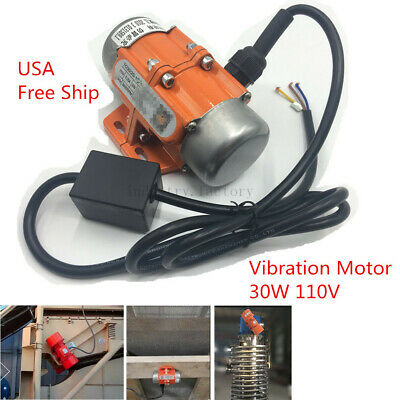 AC110V 30W Vibrating Motor Industrial Asynchronous Vibrator Single Phase 3600rpm
