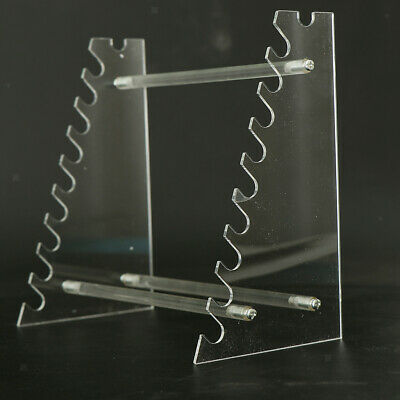 Clear Plastic Pipet Stand Rack Holder for 17 Pipettes, Horizontal